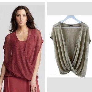 Eileen Fisher Vneck Front Twist Top